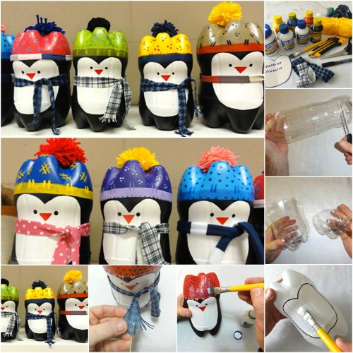 Plastic Bottle Penguins   20 Genius DIY Recycled And Repurposed Christmas  Crafts