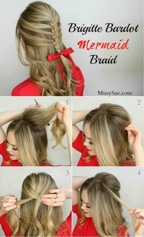 12 super cute diy christmas hairstyles for all lengths diy crafts poufy mermaid braid 12 super cute diy christmas hairstyles for all lengths solutioingenieria Gallery