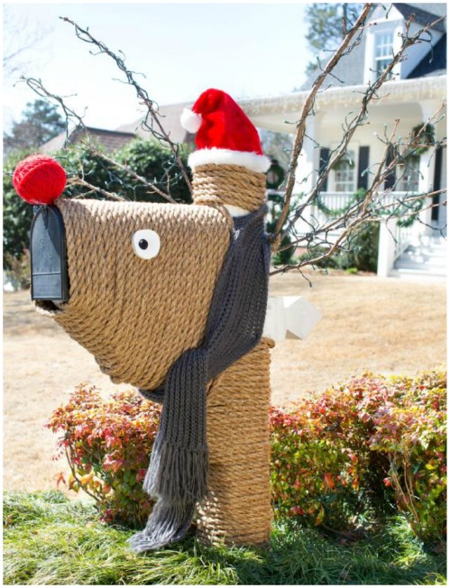 20 magical diy christmas home decorations youll want right now reindeer mailbox 20 magical diy christmas home decorations youll want right now solutioingenieria Images