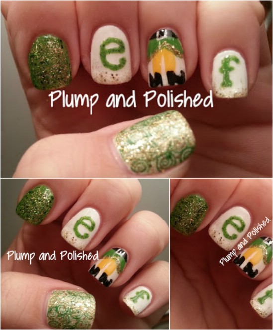 Christmas Elf - 20 Fantastic DIY Christmas Nail Art Designs That Are Borderline Genius