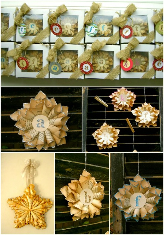 20 hopelessly adorable diy christmas ornaments made from paper diy paper stars solutioingenieria Choice Image