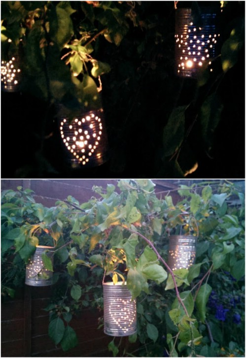 20 genius diy recycled and repurposed christmas crafts for Christmas crafts out of tin cans