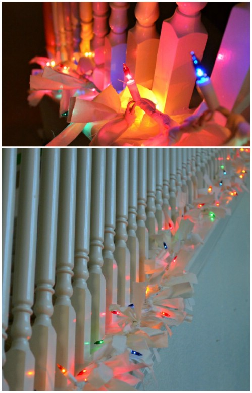 Christmas Lights Garland - 20 Magical DIY Christmas Home Decorations You'll Want Right Now