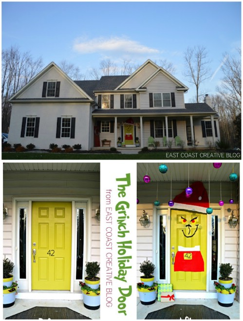 Grinch Door - 20 Magical DIY Christmas Home Decorations You'll Want Right Now