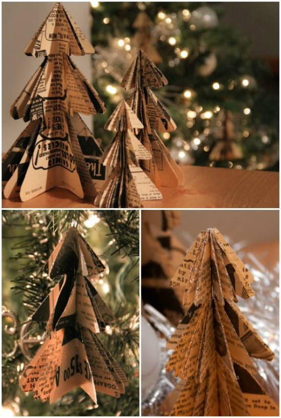 20 hopelessly adorable diy christmas ornaments made from paper diy christmas trees solutioingenieria Choice Image