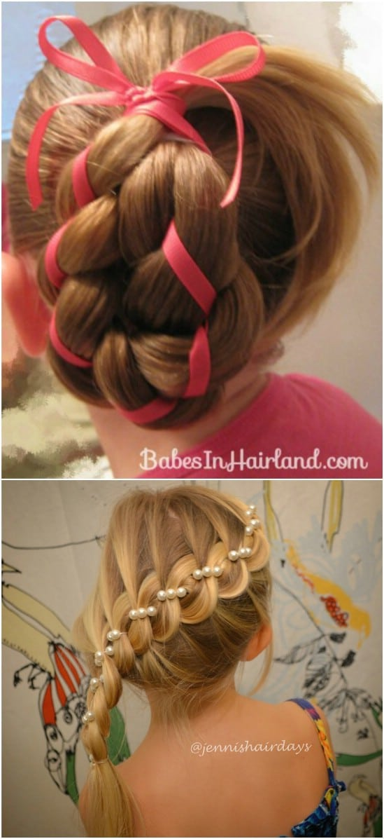 12 super cute diy christmas hairstyles for all lengths diy crafts four strand ribbon braid 12 super cute diy christmas hairstyles for all lengths solutioingenieria Gallery
