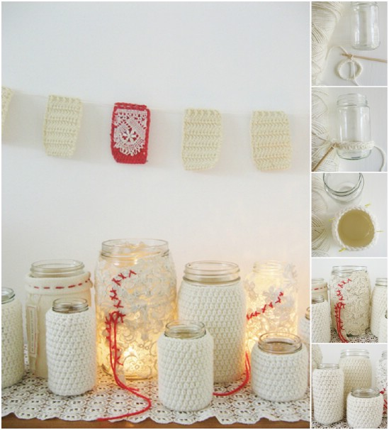 12 magnificent mason jar christmas decorations you can make yourself crocheted jar cluster 12 magnificent mason jar christmas decorations you can make yourself solutioingenieria Image collections