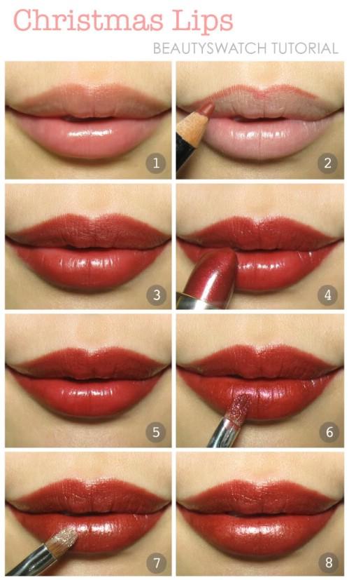 luscious lips 10 stylishly festive christmas makeup ideas