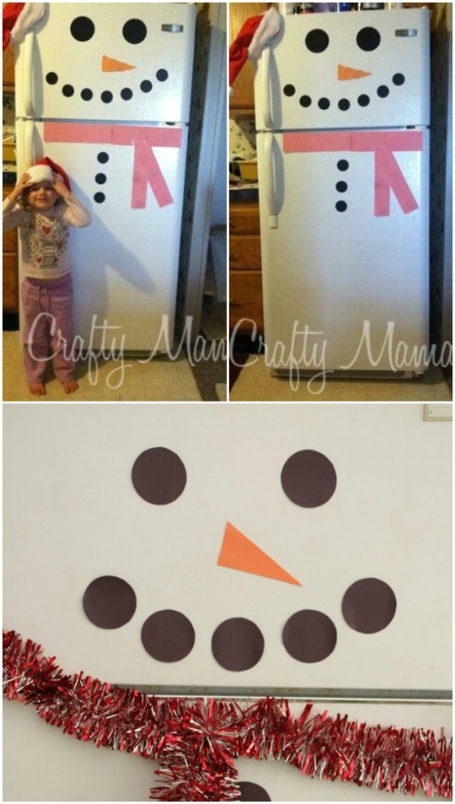 Frosty the Fridge Snowman - 20 Magical DIY Christmas Home Decorations You'll Want Right Now