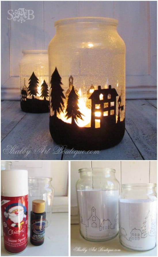 a lovely christmas township 12 magnificent mason jar christmas decorations you can make yourself