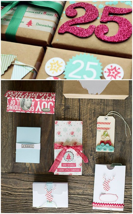Four fun gift wrap ideas.