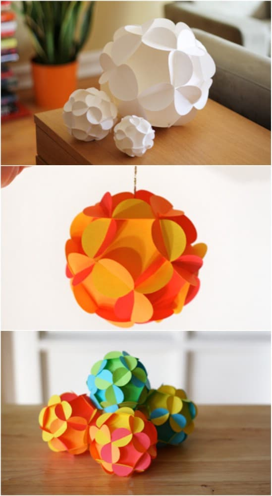 Paper Ball Christmas Decorations Interesting 20 Hopelessly Adorable Diy Christmas Ornaments Made From Paper Review