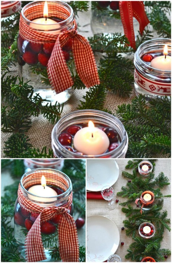 rustic centerpiece 12 magnificent mason jar christmas decorations you can make yourself