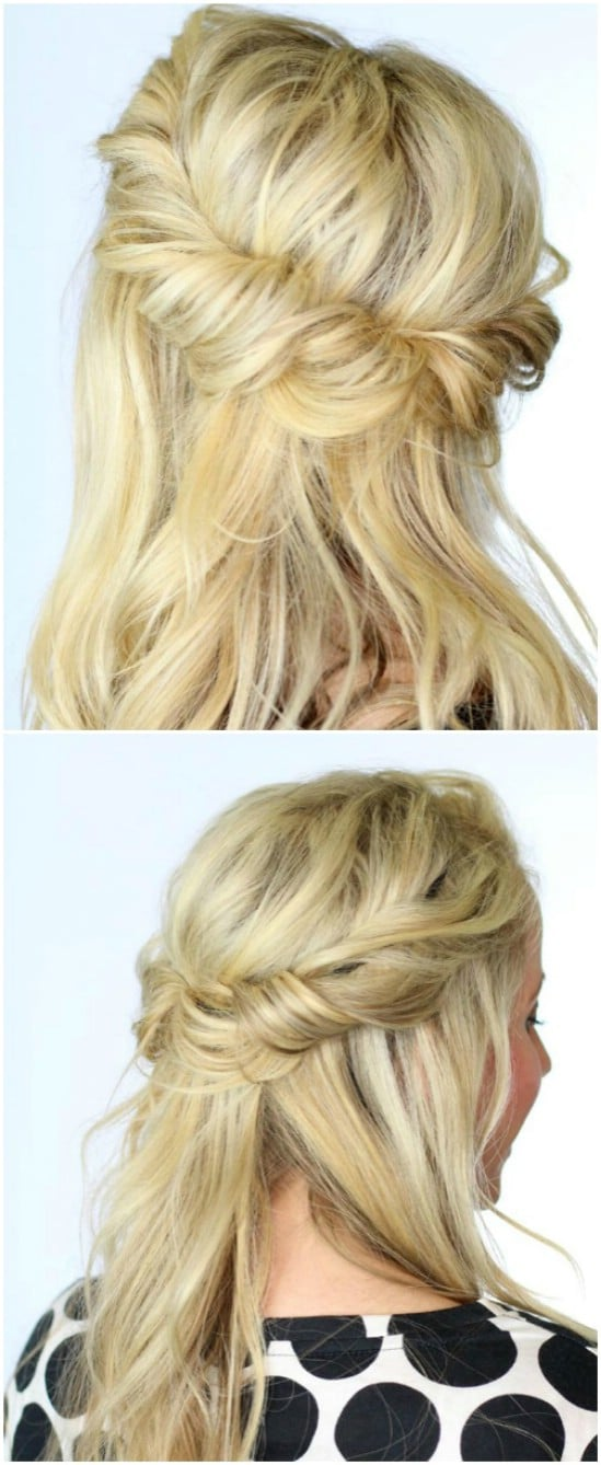 12 super cute diy christmas hairstyles for all lengths diy crafts twisted half up halo 12 super cute diy christmas hairstyles for all lengths solutioingenieria Gallery