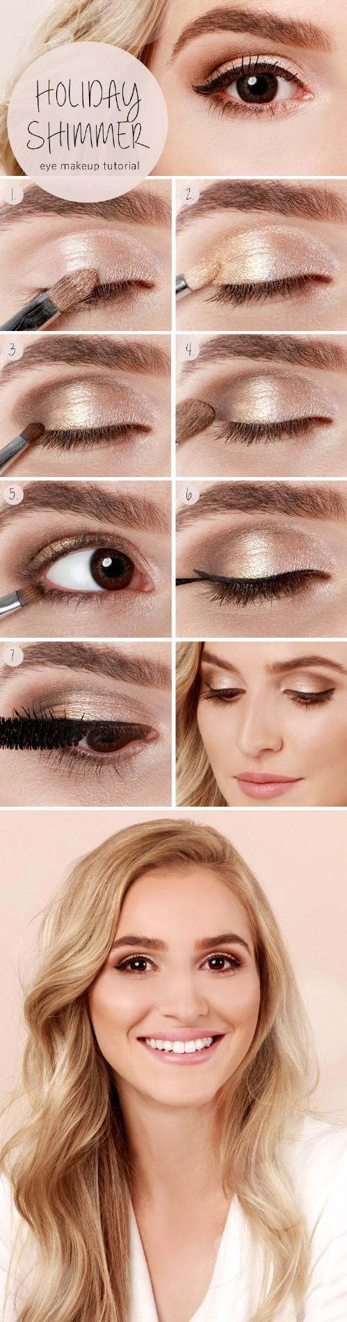 subtle shimmer 10 stylishly festive christmas makeup ideas