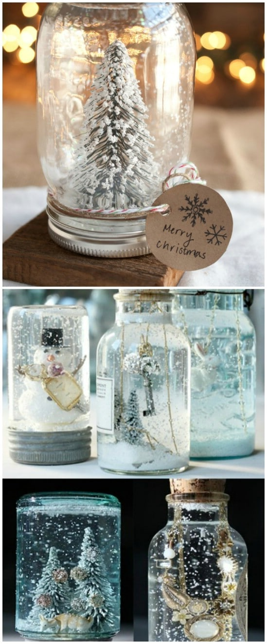 personalized snow globe 12 magnificent mason jar christmas decorations you can make yourself