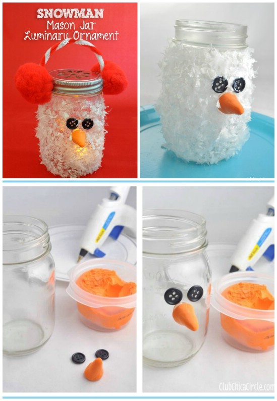 snowman luminary 12 magnificent mason jar christmas decorations you can make yourself - Christmas Jar Decorations