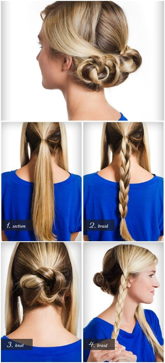 Hair Ideas For Christmas Party Part - 35: Triple Braided Bun - 12 Super Cute DIY Christmas Hairstyles For All Lengths