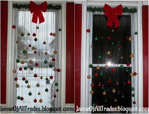 ball ornament window decoration 20 magical diy christmas home decorations youll want right - Diy Christmas Window Decorations
