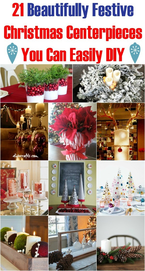 21 beautifully festive christmas centerpieces you can easily diy diy crafts - Diy Christmas Centerpieces