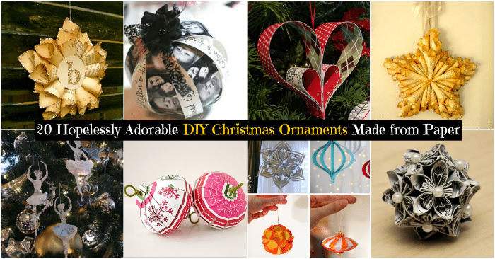 20 hopelessly adorable diy christmas ornaments made from paper diy 20 hopelessly adorable diy christmas ornaments made from paper diy crafts solutioingenieria Choice Image