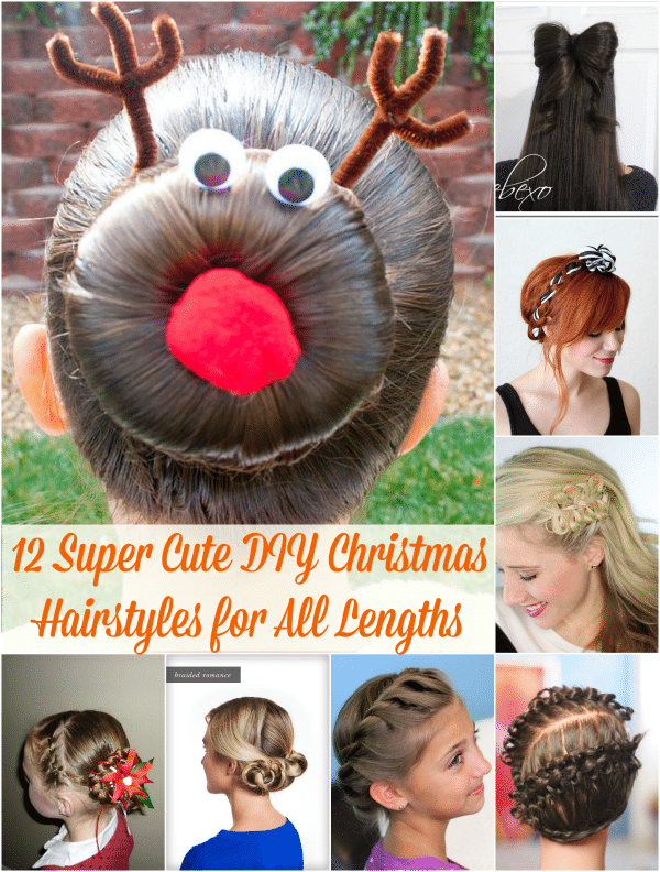 12 super cute diy christmas hairstyles for all lengths diy crafts 12 super cute diy christmas hairstyles for all lengths solutioingenieria Gallery