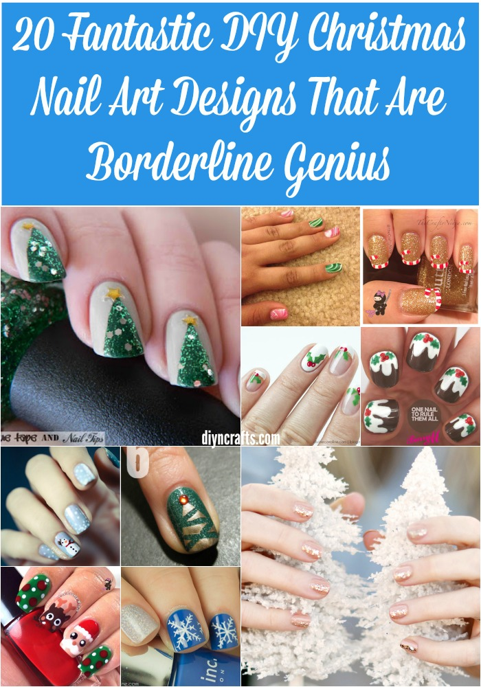 20 Fantastic DIY Christmas Nail Art Designs That Are Borderline Genius - Probably the most creative nail art designs for Christmas!!