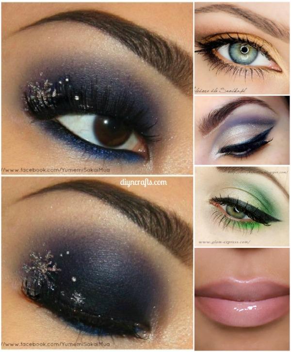 10 Stylishly Festive Christmas Makeup Ideas! Really good ideas!