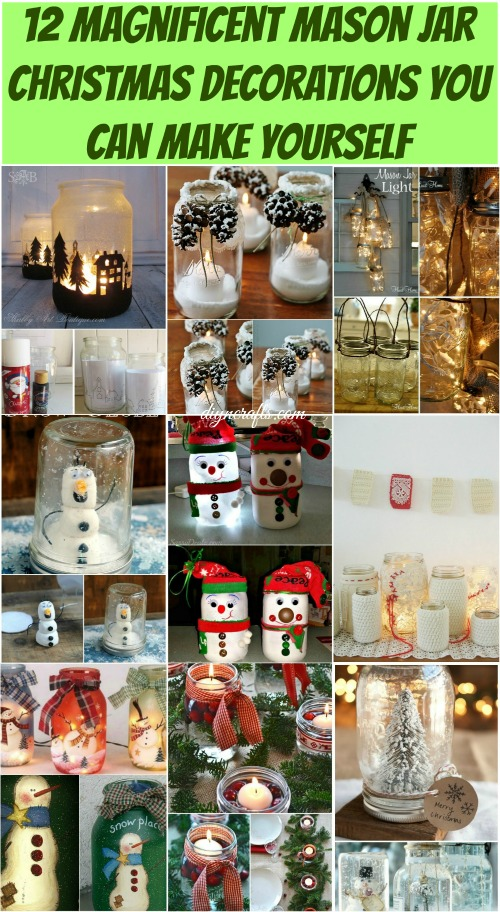 12 magnificent mason jar christmas decorations you can make 12 magnificent mason jar christmas decorations you can make yourself creative ideas for pennies solutioingenieria Image collections