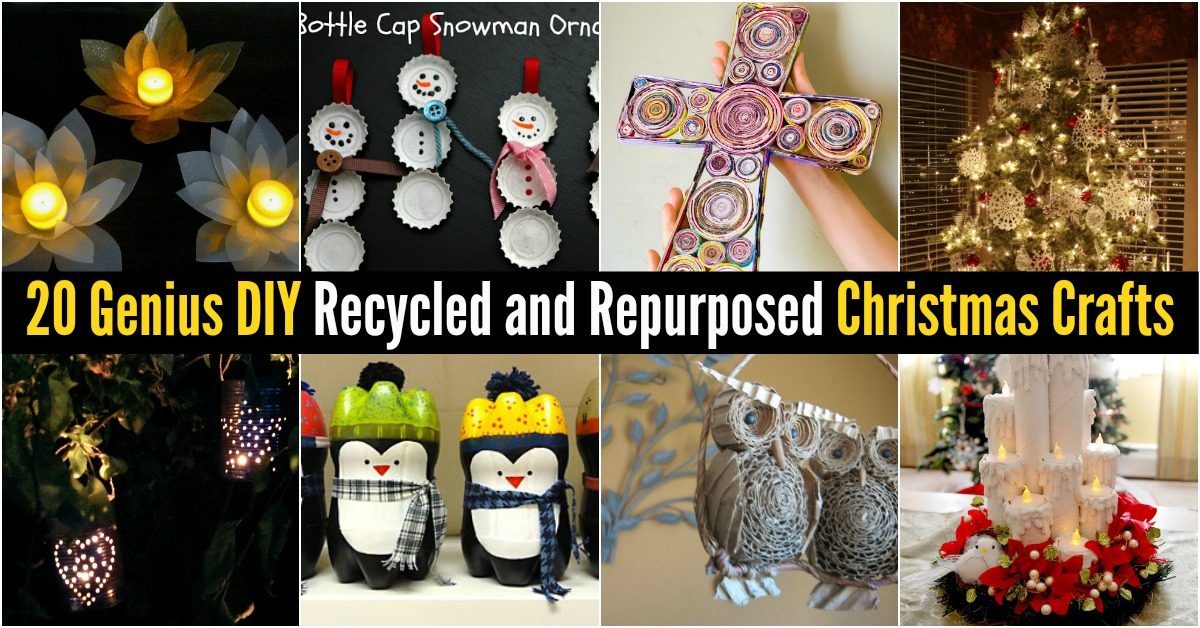 20 genius diy recycled and repurposed christmas crafts diy crafts solutioingenieria Gallery