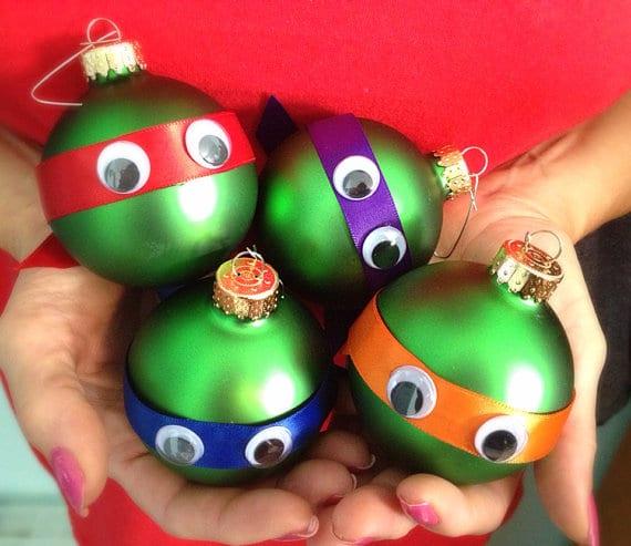Adorable DIY Ninja Turtle Christmas Ornaments