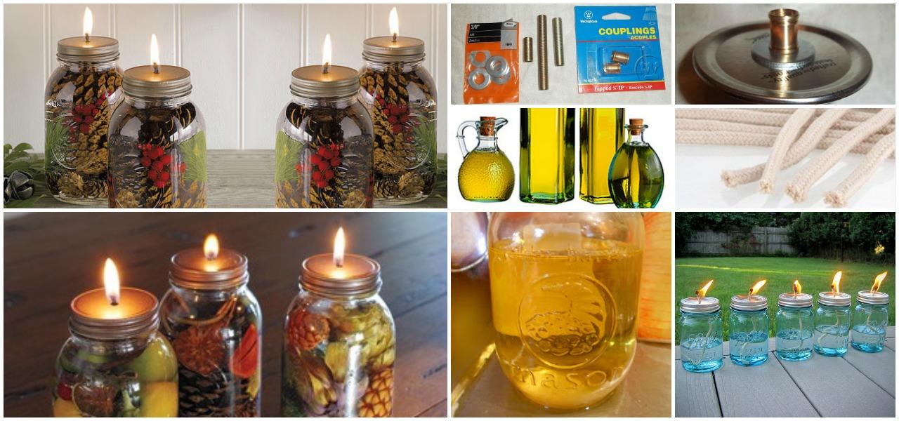 Fabulous DIY Scented Mason Jar Oil Candles - DIY & Crafts