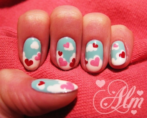 Love is in the Air - 20 Ridiculously Cute Valentine's Day Nail Art Designs - 20 Ridiculously Cute Valentine's Day Nail Art Designs - DIY & Crafts