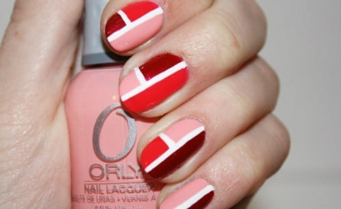 Color Blocking - 20 Ridiculously Cute Valentine's Day Nail Art Designs