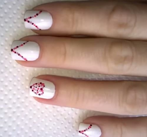 20 ridiculously cute valentines day nail art designs diy crafts dotted hearts 20 ridiculously cute valentines day nail art designs solutioingenieria Choice Image