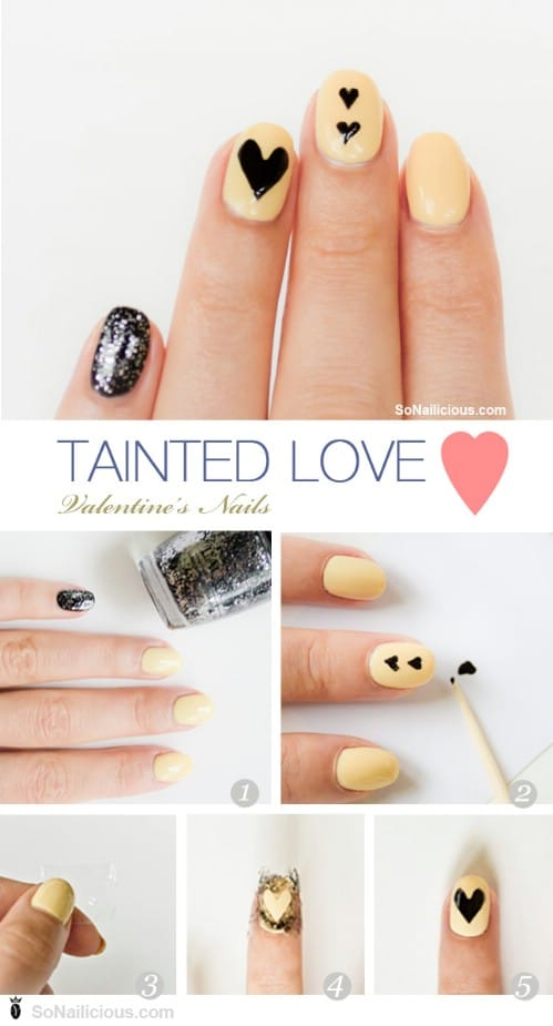 Non Red   20 Ridiculously Cute Valentineu0027s Day Nail Art Designs
