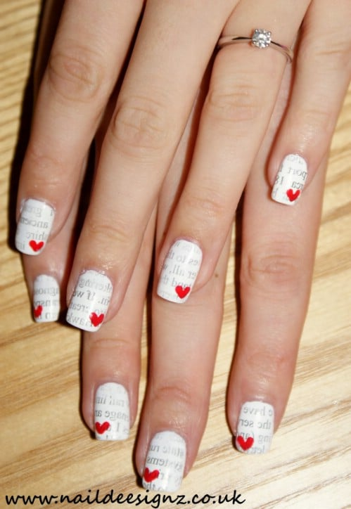 Love Letters - 20 Ridiculously Cute Valentine's Day Nail Art Designs - 20 Ridiculously Cute Valentine's Day Nail Art Designs - DIY & Crafts