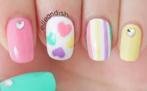 20 ridiculously cute valentines day nail art designs diy crafts pastel love 20 ridiculously cute valentines day nail art designs prinsesfo Choice Image