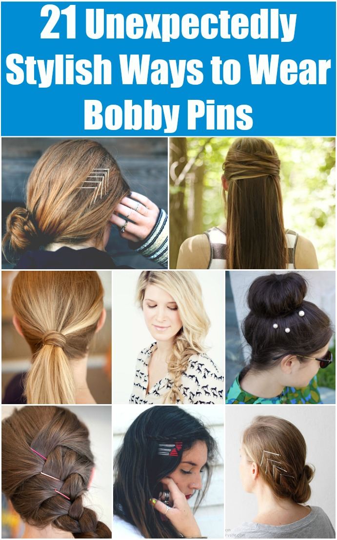 21 Unexpectedly Stylish Ways To Wear Bobby Pins Diy Crafts