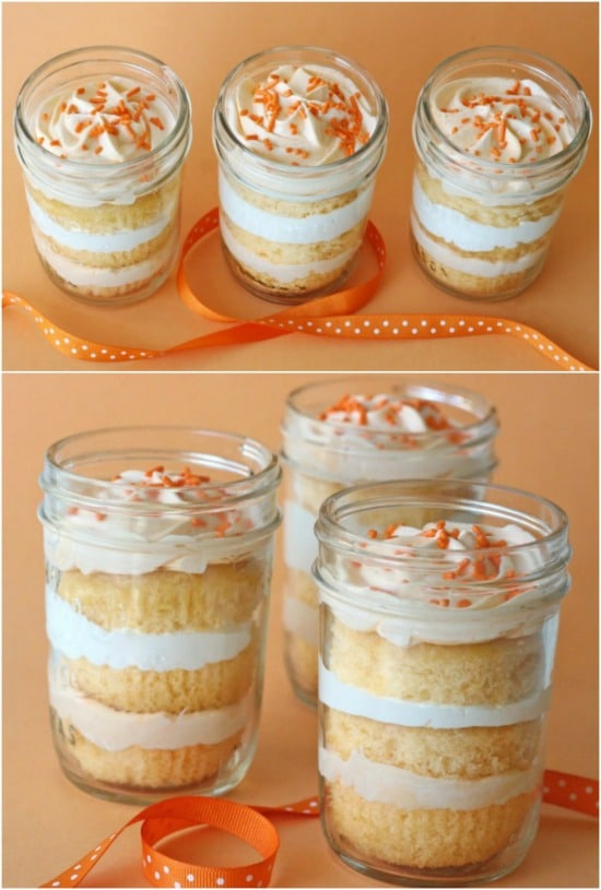 Vanilla Cake In A Jar