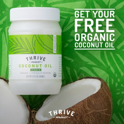 Get a FREE jar of Organic Coconut Oil at Thrive Market! - 200 Brilliant Uses For Coconut Oil That Will Change Your Life Forever
