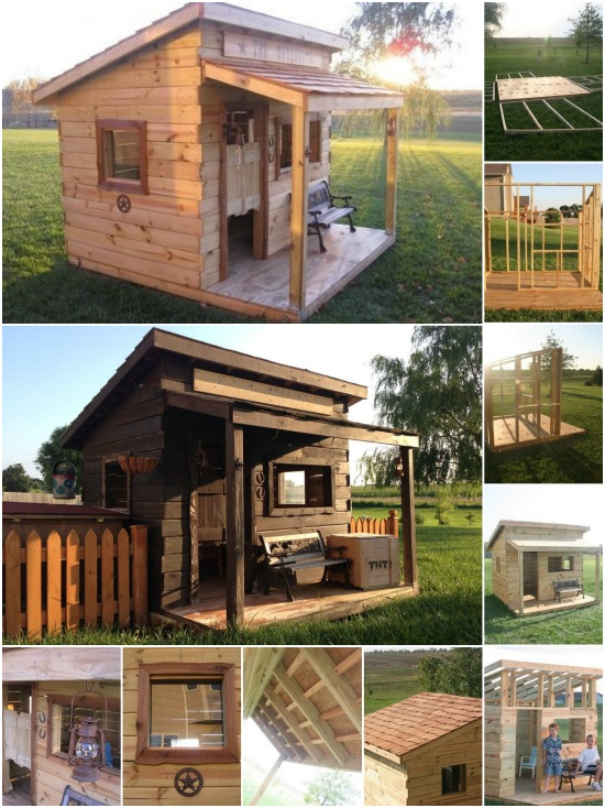 Genius woodworking project build a western saloon kid 39 s for Diy kids fort plans