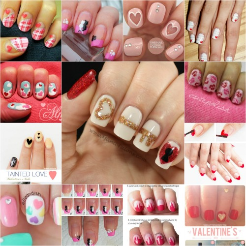 20 Ridiculously Cute Valentine's Day Nail Art Designs - 20 Ridiculously Cute Valentine's Day Nail Art Designs - DIY & Crafts