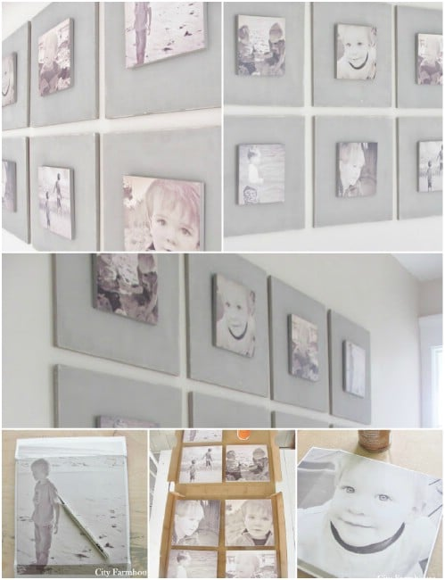 Chalk Paint Wood Board - 20 Cleverly Creative Ways to Display Your Cherished Photos