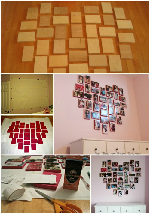 Heart Collage - 20 Cleverly Creative Ways to Display Your Cherished Photos