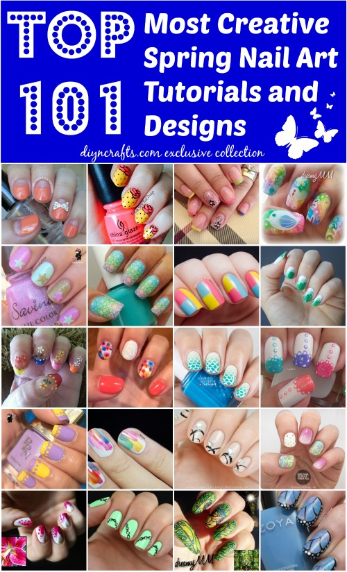 Top 101 Most Creative Spring Nail Art Tutorials and Designs - DIY ...