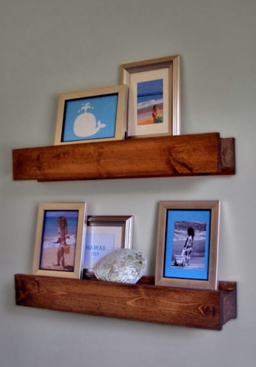 Barn Beam Shelves - 20 Cleverly Creative Ways to Display Your Cherished Photos
