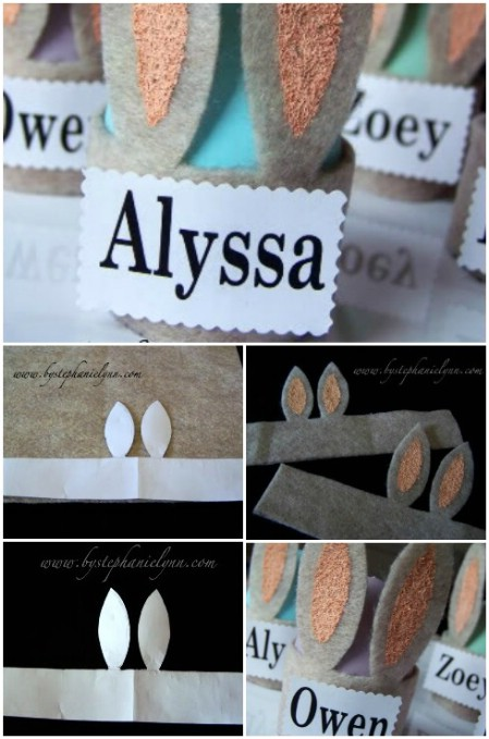 Easter place cards for table settings