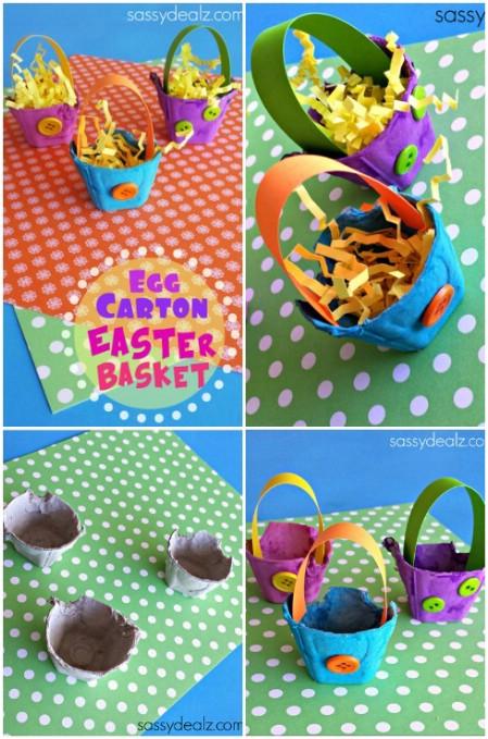 Carton Easter basket