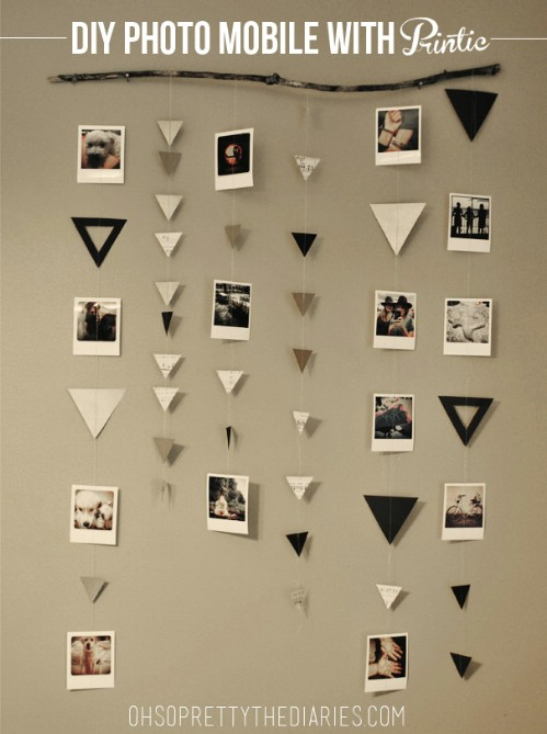 Photo Mobile - 20 Cleverly Creative Ways to Display Your Cherished Photos